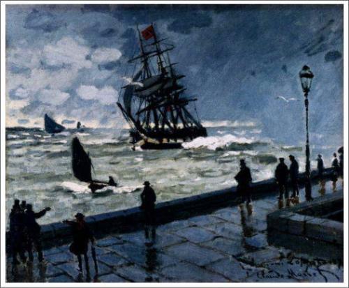 モネ「ル・アーヴルの桟橋」