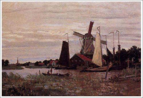 モネ「ザーンダムの風車」