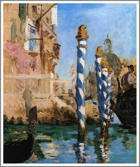 マネ「ヴェネチアの大運河」 マネ【ヴェネチアの大運河】 1832年パリ生まれのエドゥワール・マネ