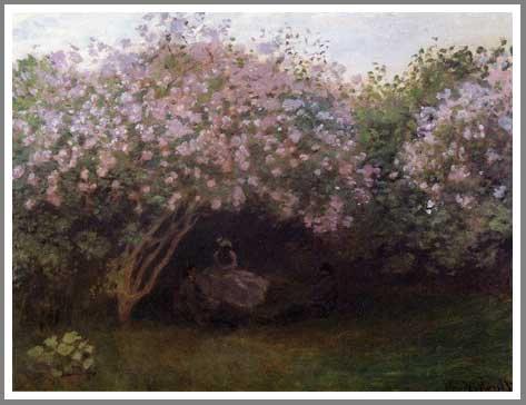 モネ「リラの木の下で」