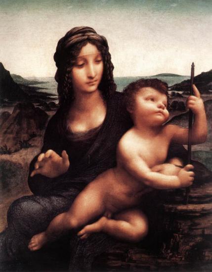 ダヴィンチ【糸巻きの聖母】(糸車の聖母)