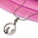 ペンダント ネックレス 月に乗った ウサギ[出世運 仕事運 子宝運]飛躍と豊穣を象徴する縁起物うさぎ