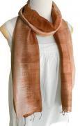 手紡ぎ シルク グラデーション スカーフ(ブラウン系)[肌に優しい天然素材、使い回せるロング165cm]