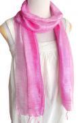 手紡ぎ シルク グラデーション スカーフ(ピンク系)[肌に優しい天然素材、使い回せるロング165cm]