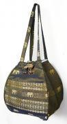 金糸織りゾウさんバッグ(グレイッシュゴールド)[近所へのお買い物やランチバッグに、何かと便利]