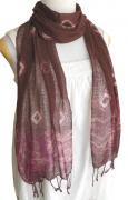 ロウシルク スカーフ タイダイ(E)[肌に優しいナチュラルシルク、日差し除けや紫外線対策、襟元防寒にお役立ち]