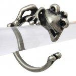 カエル リング 指輪 のんびり 蛙(アンティークシルバー)フリーサイズ(9号〜16号)