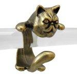 猫 リング 指輪 キャット ブサカワ猫(アンティークゴールド)フリーサイズ(9号〜15号)
