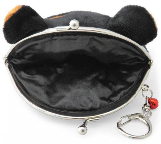 ポーチ がま口ポーチ 口金ポーチ 柴犬(A 黒柴)キーリング付き 小銭入れ 財布 小物入れ かわいい もちもち フワフワ もふもふ