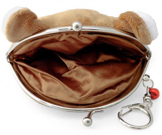 ポーチ がま口ポーチ 口金ポーチ 柴犬(B 茶柴)キーリング付き 小銭入れ 財布 小物入れ かわいい もちもち フワフワ もふもふ
