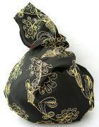 シルク刺繍まん丸バッグ(B)