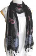 ロウシルク スカーフ タイダイ(H)[肌に優しいナチュラルシルク、日差し除けや紫外線対策、襟元防寒にお役立ち]