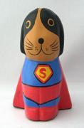 木彫り 犬 スーパーアニマル(スーパードッグ)