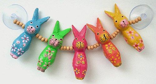 木彫り引っ付きウサギ