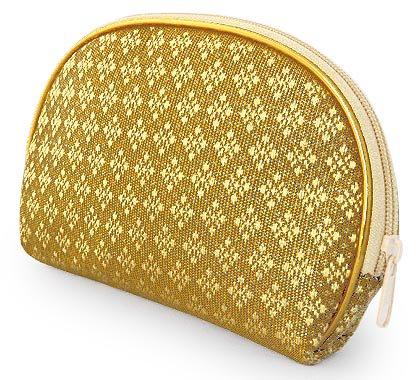金糸織り化粧ポーチ(H)[バッグの中でもすぐに見つかる華やかさ★メイクアップ用品や小物の収納に]