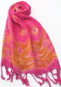 ロウシルク スカーフ タイダイ(N)[肌に優しいナチュラルシルク、日差し除けや紫外線対策、襟元防寒にお役立ち]