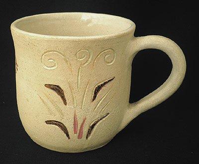 ビッグマグカップ(A)[ぽったり厚手のハンドメイドの器、素朴で温かみのあるインドの焼き物です]