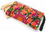 モン族刺繍クラッチバッグ(A)[少数民族の刺繍をあしらった、艶やかなファッションバッグ]
