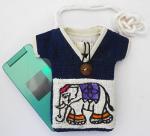 ヘンプゾウさんTシャツ型ショルダーポーチ(C)[携帯電話やサングラス収納に。御守入れにもぴったり]