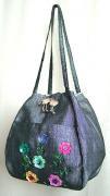 スパンコール刺繍バルーンバッグ(シルバー)