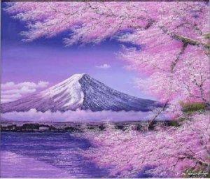 ●絵画 富士に桜 木村由記夫作 商品紹介