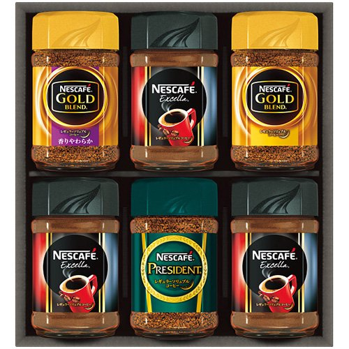 コーヒー ギフト セット ネスカフェ プレミアム レギュラーソリュブル インスタント 詰め合わせ N35-A (6)
