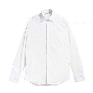 Neil Barrett ニール バレット 定番フルポプリン フライフロントドレスシャツ WHITE