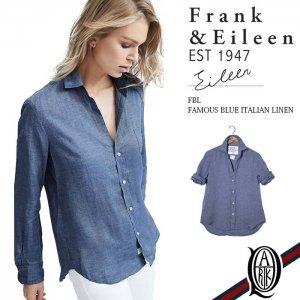 Frank&Eileen EILEEN FBL レディースシャツ FAMOUS BLUE ITALIAN LINEN フランクアンドアイリーン エイリーン