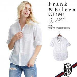 Frank&Eileen EILEEN WHL レディースシャツ WHITE ITALIAN LINEN フランクアンドアイリーン エイリーン