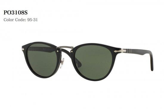 Persol ペルソール PO3108S 95 31 サングラス BLACK BLACK