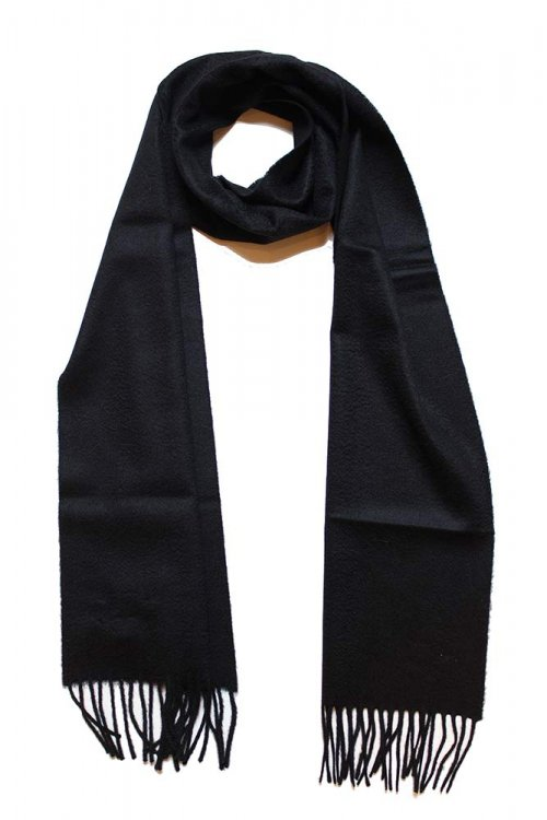 ジョンストンズ カシミアマフラー ブラック(SA090000 Black WA000016 Johnstons CASHMERE MUFFLER)