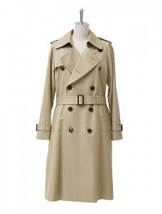 beautiful people ビューティフルピープル 定番 ultimatepima long trench coat camelbeige
