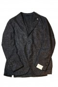 L.B.M.1911 エルビーエム1911 16-17A/W 2Bジャケット ツイード BLACK MELANGE