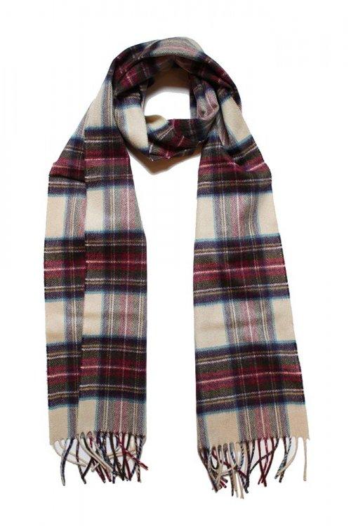 ジョンストンズ カシミアマフラー ヘシアンドレススチュアート(KU0010 Hessian Dress Stewart WA000016 Johnstons CASHMERE MUFFLE…