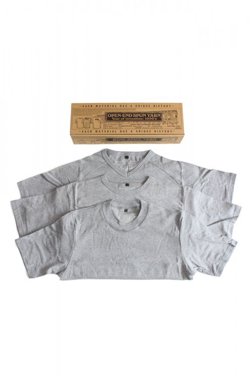<img class='new_mark_img1' src='//img.shop-pro.jp/img/new/icons7.gif' style='border:none;display:inline;margin:0px;padding:0px;width:auto;' />NIGEL CABOURN ナイジェルケーボン 18S/S 3-PACK GYM TEES GREY  メインイメージ
