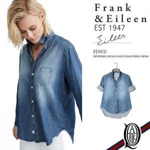 Frank&Eileen EILEEN FDWD レディースシャツ DISTRESSED VINTAGE WASH ITALIAN INDIGO DENIM フランクアンドアイリーン エイリーン
