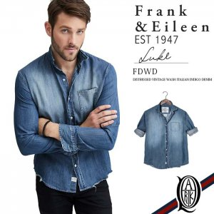 Frank&Eileen LUKE FDWD DISTRESSED VINTAGE WASH ITALIAN INDIGO DENIM フランクアンドアイリーン ルーク