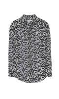EQUIPMENT エキプモン ESSENTIAL シルクシャツ ハートプリント BLACK