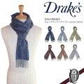 Drake's チョークストライプマフラー 6色 (ALLAA/18753 ドレイクス Double Chalk Stripe Scarf)