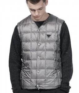 <img class='new_mark_img1' src='https://img.shop-pro.jp/img/new/icons7.gif' style='border:none;display:inline;margin:0px;padding:0px;width:auto;' />TAION EXTRA タイオン MENS V NECK INNER DOWN メンズVネックインナーダウン GRAY