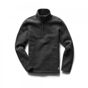 REIGNING CHAMP レイニングチャンプ HALF ZIP PULLOVER TIGER FLEECE RC-3498 BLACK