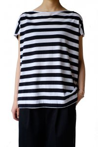 DEMYLEE デミリー 20SS Sydney Stripe Top NAVY/WHITE