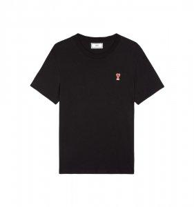 AMI Alexandre Mattiussi アミ アレクサンドル マテュッシ AMI DE COEUR Tシャツ BLACK