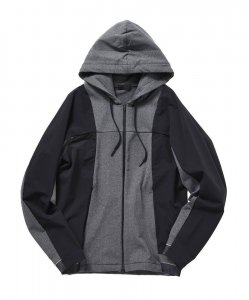 SOLIDO ソリード H.I.P. by SOLIDO BRUSHED MERYL HOODIE  MSL20S5550 GREY