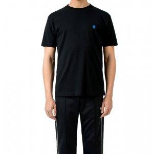MARCELO BURLON マルセロ ブロン PSYCH CLOUDS T-SHIRT BLACK BLUE