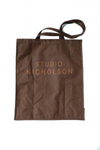 STUDIO NICHOLSON スタジオニコルソン THE LARGE TOTE BROWN