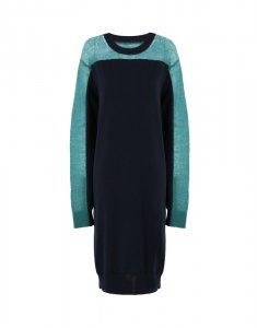 Maison Margiela Lady's メゾンマルジェラ レディース 21S/S Spliced ニット ドレス DARK BLUE