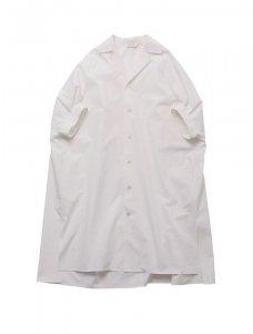 beautiful people ビューティフルピープル トルファン コットンポプリンシャツドレス WHITE