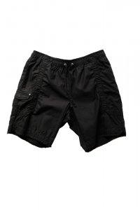 JOHN ELLIOTT ジョンエリオット Cotton Poplin Frame Shorts BLACK