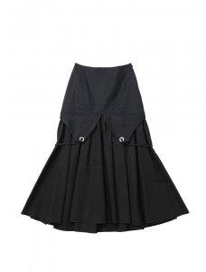 beautiful people ビューティフルピープル ダブルエンド ギャツビー シャーティング スカート/ドレス black